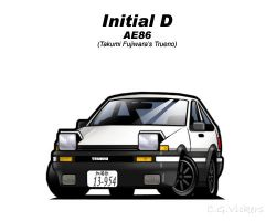 Chibi AE86 by CGVickers