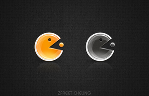 Pac-Man Button by ZFreet