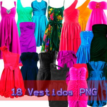 18 Vestidos PNG by AndyBieber