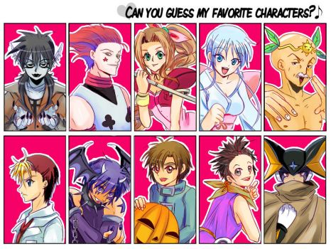 Guess my fave Chara's Meme by LoRd-TaR