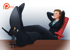Commission ~ Executive Downtime (sm. free version) by SpokleArt