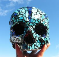 HUMAN SKULL MOZAIK INLAY by tattoopink