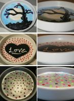 Hand Painted Ceramic Jewlery Dishes by ShannonB86