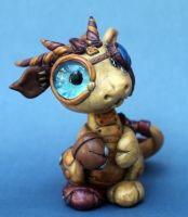 mr. steampunk dragon by BittyBiteyOnes