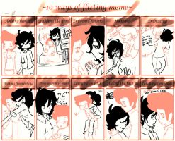 .:10 ways of flirting: Adventuretime. by Hozukami