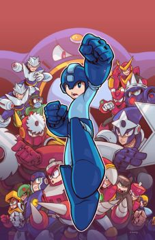 Mega Man 49 Cover by edwinhuang