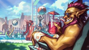 Warcraft POOL PARTY promo by Knockwurst