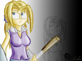 Ruth with her staff by Wonchop