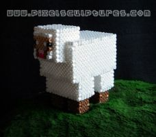3D Sheep from Minecraft by PixelSculptures