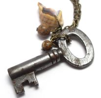 Deserts and Seas Skeleton Key Necklace by sojourncuriosities