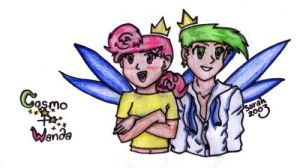 Anime Cosmo and Wanda by fairlyoddparents