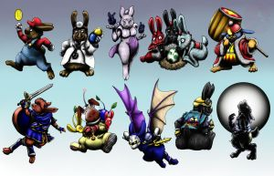 Super Smash Bunnies PART ONE by meroe1313