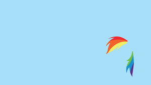 Rainbow Dash Minimal Wallpaper [1920x1080] by Doovid97