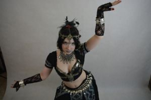STOCK - Indian / Gothic temple dancer by Apsara-Art