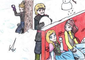 Shadowman, Kristoff, Destiny and Anna by VanillAlina