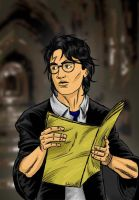 Harry and the Marauders Map by LilyFlorette