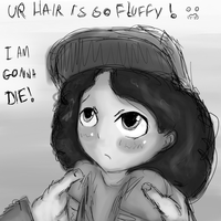 Clementine - Fluffy Hair Doodle (Sketch) by Crazyb2000