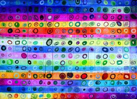 Colorful Concentric Circles by jenthestrawberry