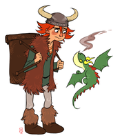 Hiccup And Toothless by some-hipster