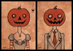 little pumpkin people. by zombiepoptarts