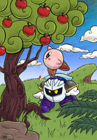 Meta Knight and Kirby: colored by Rainmaker113