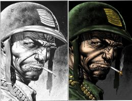 SGT. ROCK side by side by LarsonJamesART