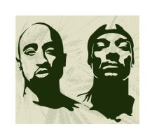 2pac And Snoop Dogg Stencils by SeanJJ
