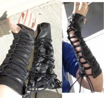 Leather Bracers 2.0 by CaptainMorganTeague