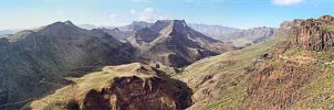 Panorama from the core of Gran Canaria by Kaslito