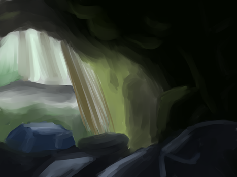 Cave Study by azure-quill-arts