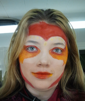 Fire Phenoix makeup 1 by anne-t-cats