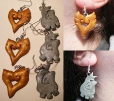 HG+SS Earrings by ChibiSilverWings