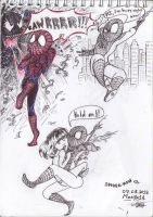 Spider-man --sketches-- by Mariya14