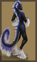 Wingless Anthro Kaa by Siveran