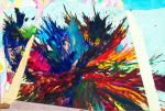 Bliss Abstract Expressionism Splatter Painting by bRiANmoSsARt