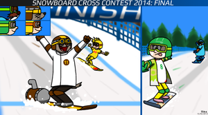 Snowboard Cross Contest 2014: Final by BluebottleFlyer