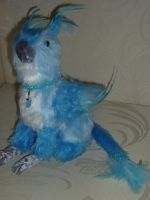 Blue Gryphon- Plush Toy by gryphonic19