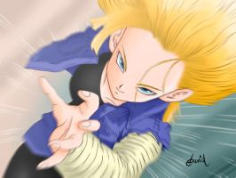 Android 18 by DavidMy