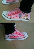 Hand painted sneakers Pink Panther by anapeig