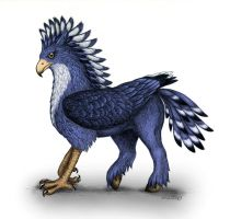 Crested Hippogriff, Blue by Snafflepod