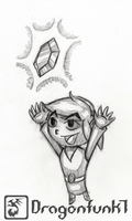 Link finds a rupee, yay [pencilwork] by Dragonfunk7