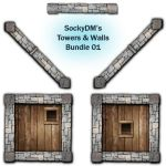 Resources : Towers and Walls Bundle 01 by SockyDM