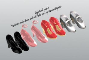 MMD high heels pack 1+DL by Green-Fighter