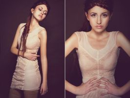 dust pink dress by Voodica