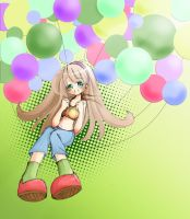 Floating with Balloons by Kate-san