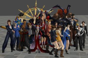 xnalara final fantasy 8 models by twinlightownz