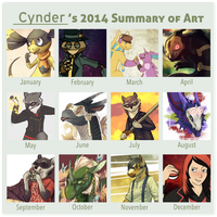 2014 summary of art! by CyndersAlmondEyes