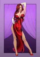 Jessica Rabbit By Elias Chatzoudis - Colored by stratusxh