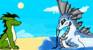 +Collab+ Beach Talking by Mike-Dragon