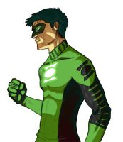 Kyle Rayner in process by 22two